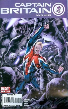 Captain Britain And MI13 #8 (2008) Marvel comic book